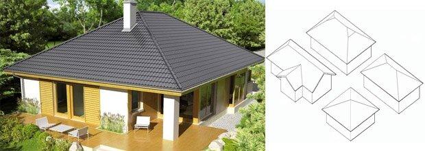 Устройство четырехскатной крыши