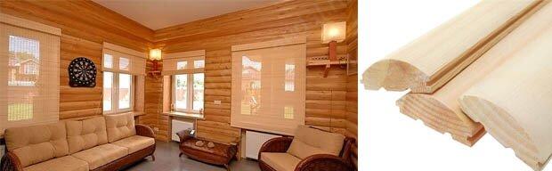 Блок хаус в интерьере дома - фото