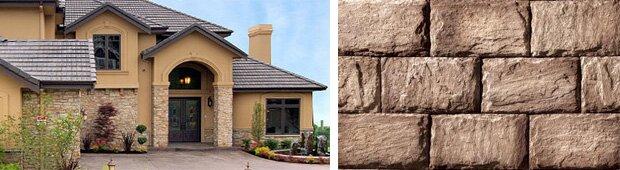 фото фасадов, облицованных искусственным камнем
