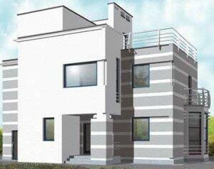 Проекты домов с плоской крышей - фото