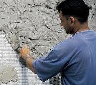 Монтаж фасадной строительной сетки